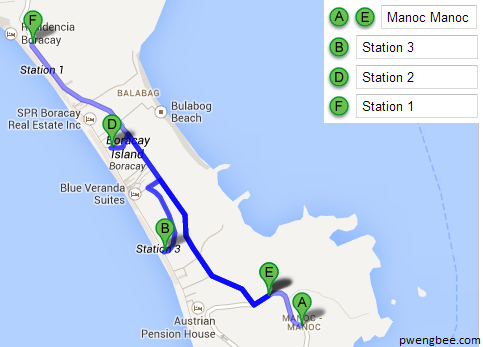 From Manoc Manoc to Any Station in Boracay