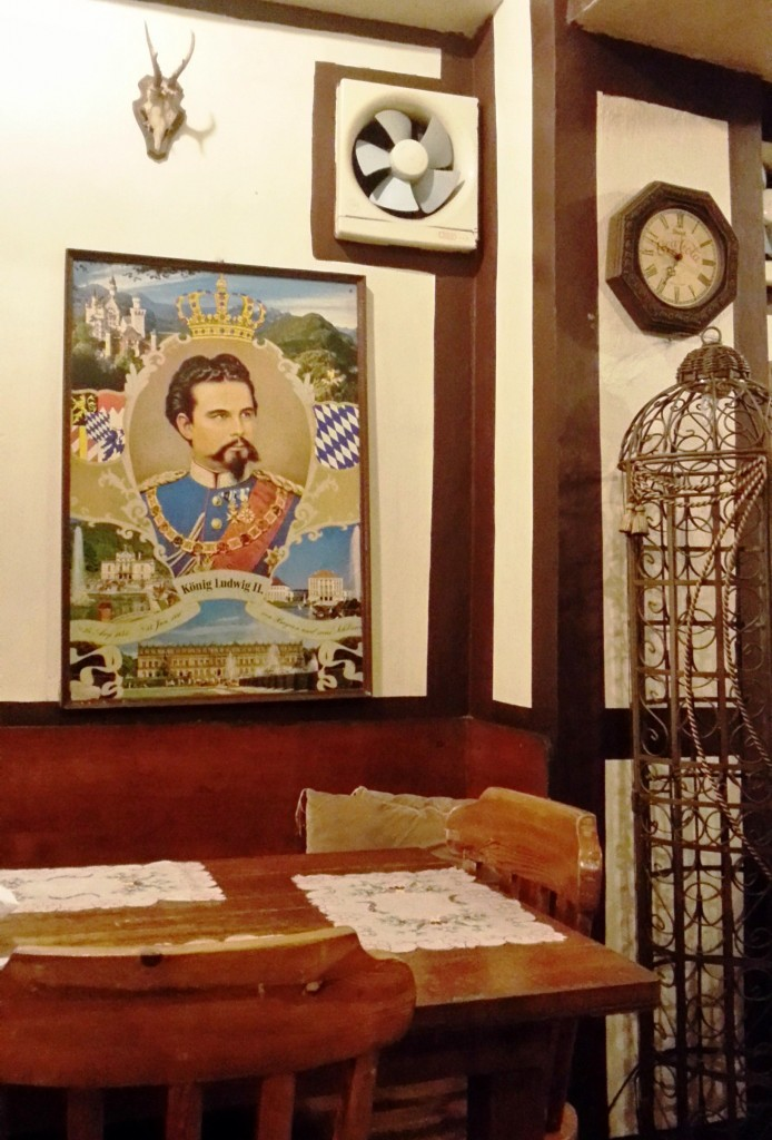 At the topmost right corner of the wall, an antique clock by Coca-Cola! Can I have that for take-out too?